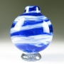 Ball Vase in royal blue swirl