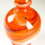 Ball Vase in orange flame swirl