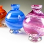 Ball Vases in swirl colors