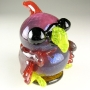 Cardinal Art Glass Sculpture
