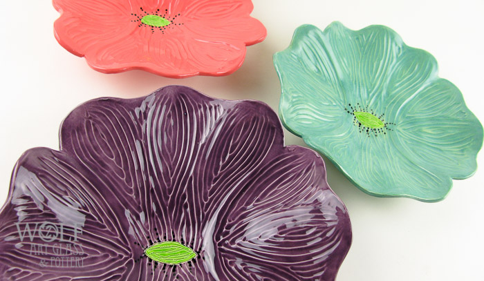 WolfArtGlass-Ceramic-Poppies-Wall-Art-Pink-Purple-Turquoise-4897