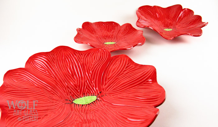 WolfArtGlass-Ceramic-Red-Poppies-Wall-Art-4838