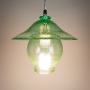 Recycled Bottle Glass Bell & Hat Pendant Lamp