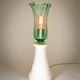 Plume Table Lamp - Blown Recycled Bottle Glass & Thrown Earthenware Pottery