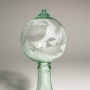Chickadees Silhouette Etched Blown Recycled Bottle Glass Ornament