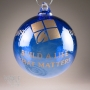 Custom Company Gift Etched Blown Glass Ornament
