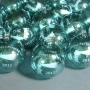 Company Logo Etched Teal Glass Ornament