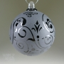 Gothic Black Etched Glass Ornament
