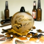 Merry Christmas Yall Texas Recycled Beer Bottle Glass Ornament