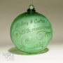 Personalized 25th Anniversary Emerald Green Ornament