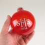 School Logo Custom Etched Ornament