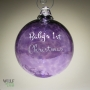 Baby's First Christmas Etched Ornament