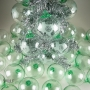 Corporate Green Gift Logo Etched Recycled Glass Ornament