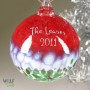 Personalized Name and Date Christmas Tree Ornament