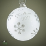 Family Name and Year Customized Glass Christmas Ornament