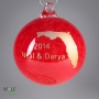 Wedding Announcement Custom Glass Christmas Ornament