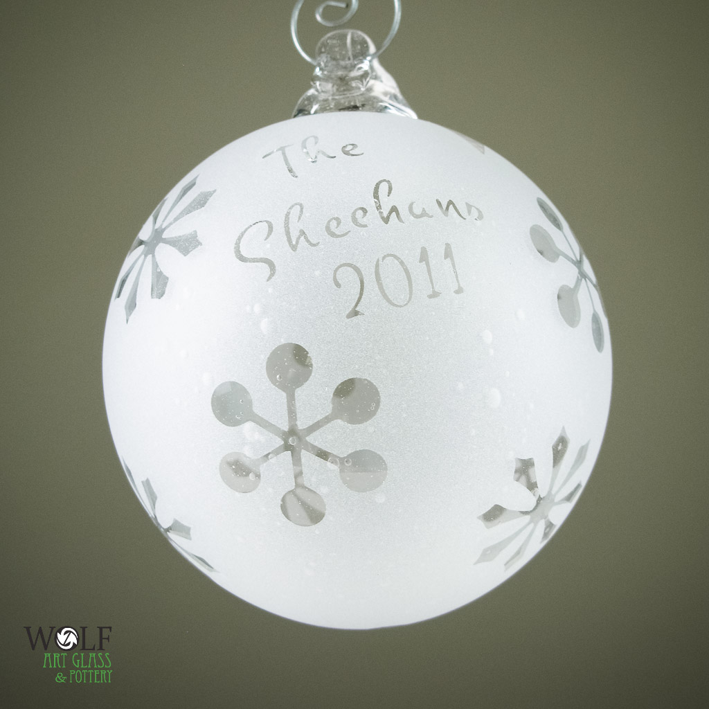 Blown glass ornaments and suncatcher balls at blown art for Personalized christmas photo ornaments