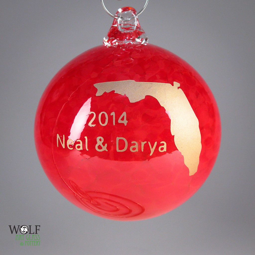 Blown glass ornaments and suncatcher balls at blown art for Customized photo christmas ornaments