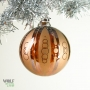 Amber Gold Retro Multi-stripe Chain Ornament