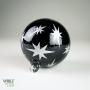 Black Stars Retro Silver Etch Blown Ornament