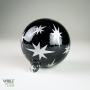 Black Stars Retro Silver Etch Blown Ornament