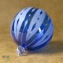 Cobalt Sapphire Blue Retro Arrow Stripe Etch