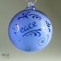 Cobalt Sapphire Blue Retro Peace Flourish Reverse Etch