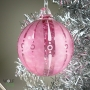 Fuchsia Pink Retro-stripe Ornament