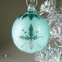 Teal Blue-Green Retro Snowflakes Ornament