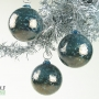 Deep Teal Smoke Speckle Ornament Suncatcher