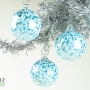 Denim Blue and White Speckle Ornament Suncatcher
