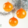 Bright Tangerine Orange Speckle Ornament Suncatcher