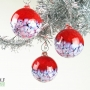 Bright Red Blossom Ornament Suncatcher