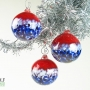 Red White and Blue Patriot Ball Ornament Suncatcher