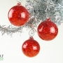 Bright Red Grey Speckle Ornament Suncatcher