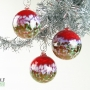 Bright Red White and Emerald Green Ornament Suncatcher