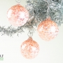 Coral and White Speckle Ornament Suncatcher