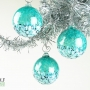 Deep Teal Blue Green Blossom Ornament Suncatcher