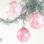 Pink White Speckle Ornament Suncatcher