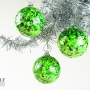 Neon Green Black White Granite Ornament Suncatcher