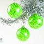 Neon Green White Speckle Ornament Suncatcher