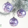 Amethyst Purple White and Black Granite Ornament Suncatcher