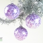 Amethyst Purple White Speckle Ornament Suncatcher