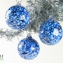 Sapphire Blue White and Black Granite Ornament Suncatcher