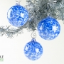 Deep Sapphire White Blue Speckle Ornament Suncatcher