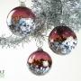 Plum Aubergine Blossom Ornament Suncatcher