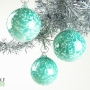 Teal White Speckle Ornament Suncatcher