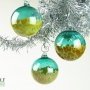 Teal Amber Blossom Ornament Suncatcher