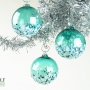 Teal Blue Green Sea Blossom Ornament Suncatcher