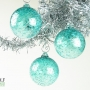 Teal Blue Green Ice Ornament Suncatcher
